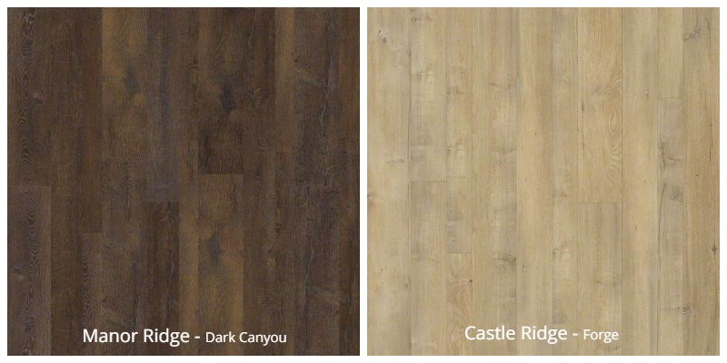 Shaw Mixed Width Laminate Flooring
