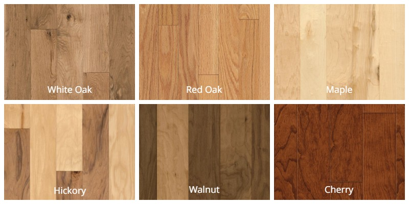 Common Types of Hardwood Flooring