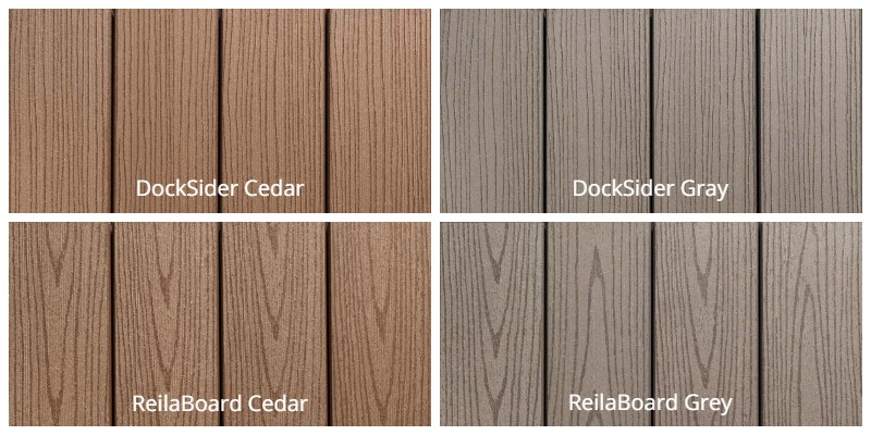 TimberTech DockSider and ReilaBoard Colors