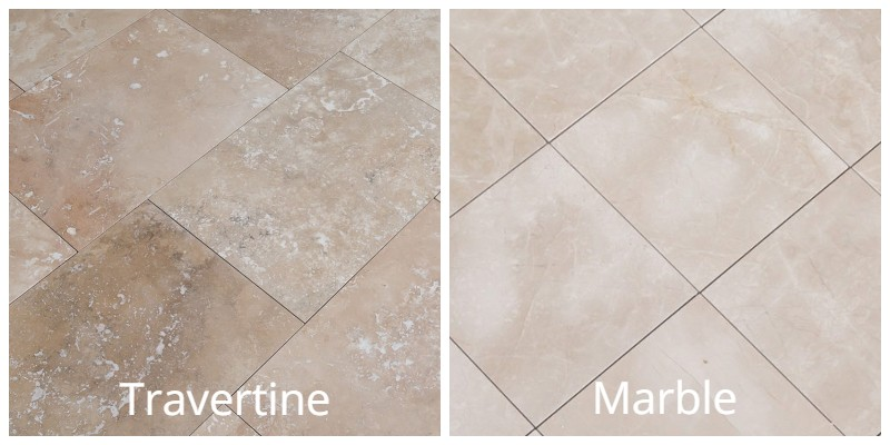 Travertine vs. Marble