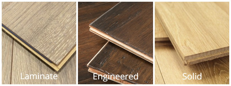Solid Vs Engineered Wood vs. Laminate Flooring