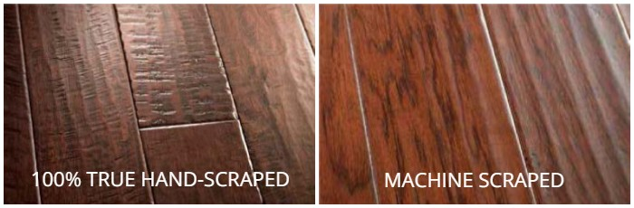 True Hand-Scraped vs machine scraped hardwood