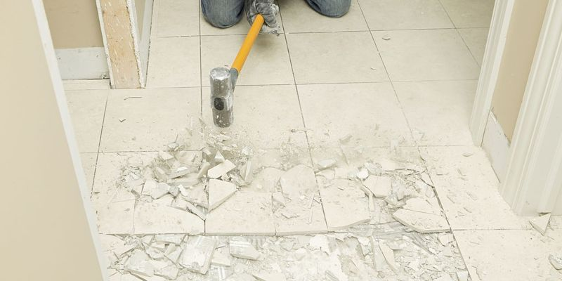 Remove Tile From A Concrete Floor