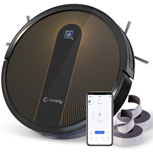 Coredy R750 Robot Vacuum Cleaner Mopping System