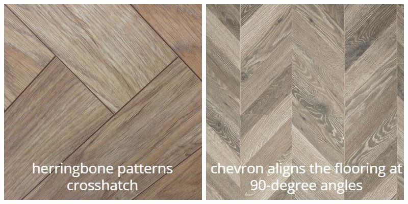 Herringbone and chevron
