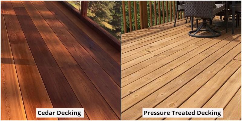 Cedar vs Pressure-treated