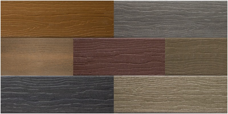 Composite decking color