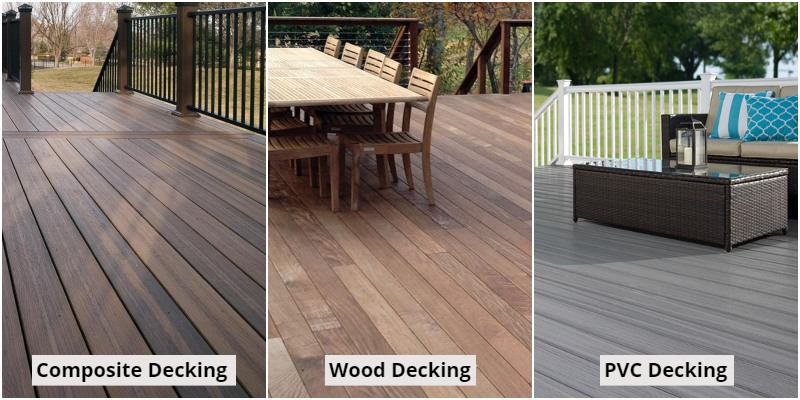 Composite decking, Wood decking, PVC decking