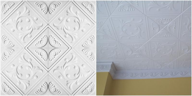 Antique Foam Ceilings White