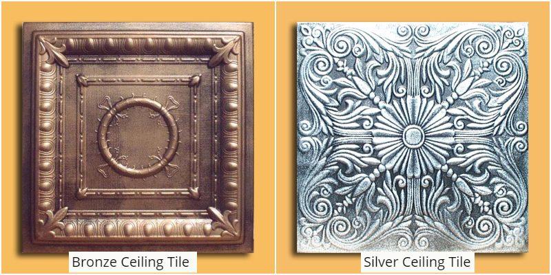 Bronze Silver Ceiling Tiles