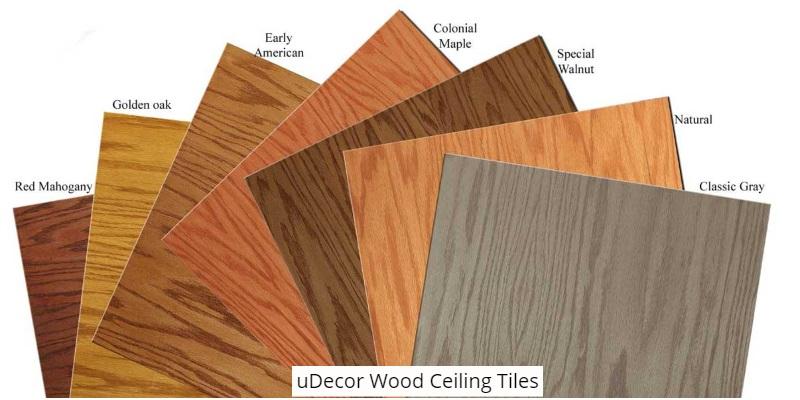 uDecor Wood Ceiling Tiles