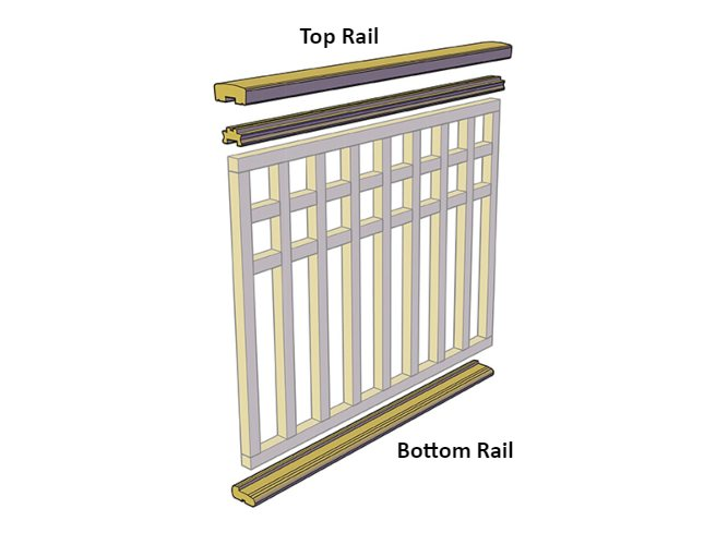 top and bottom rails