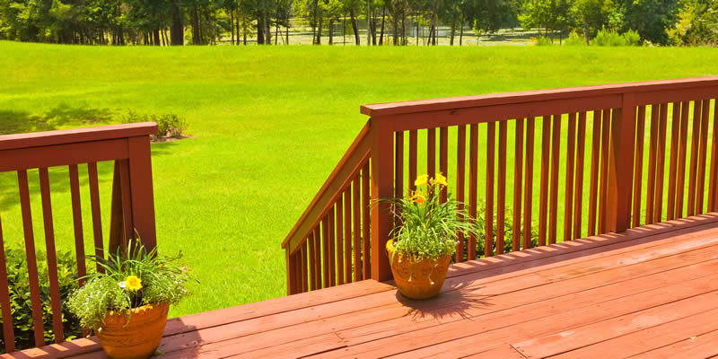 wood decking railings
