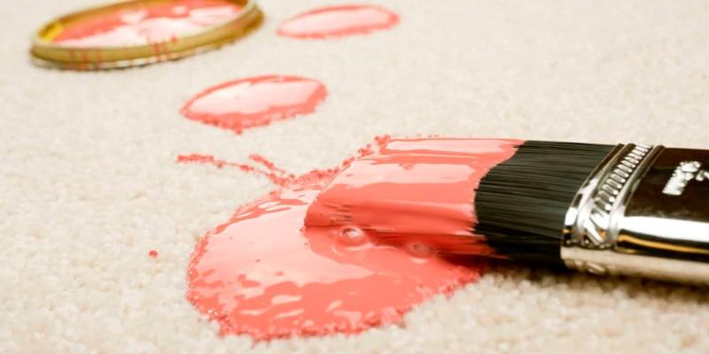 Acrylic Paint on Carpet