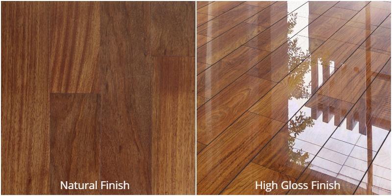 natural finish vs high gloss finish hardwood flooring